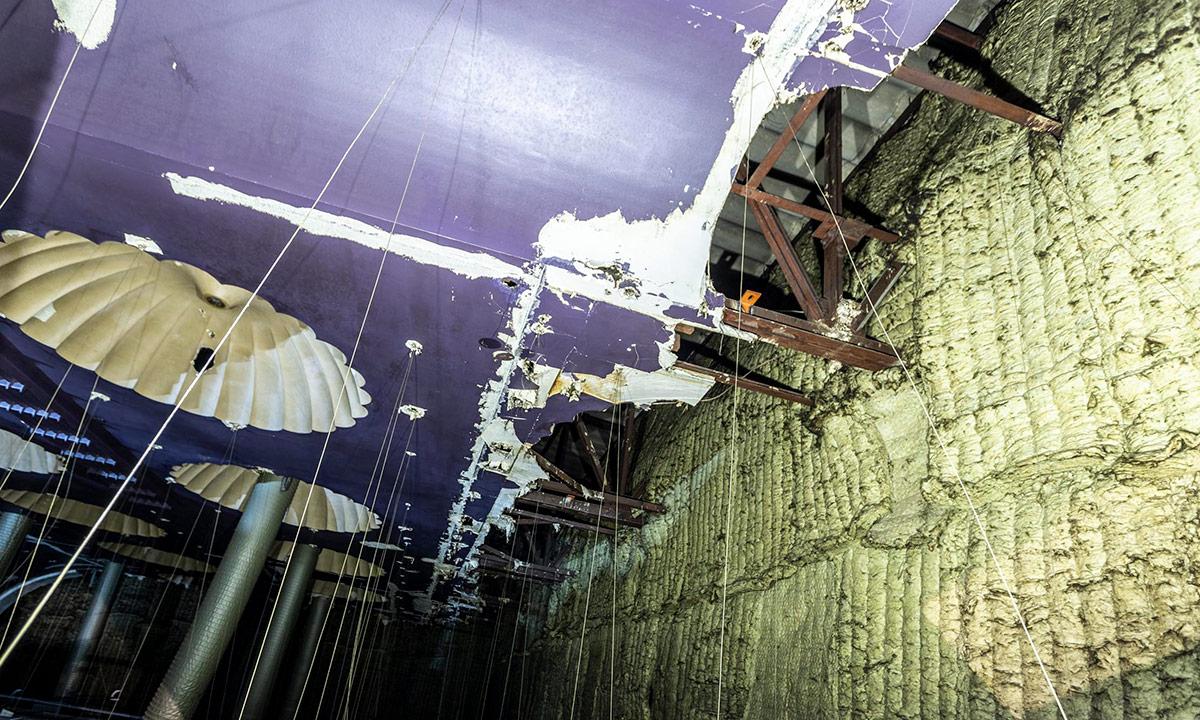 The former Abbey Cinema ceiling