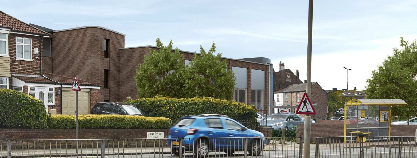 3D visual of proposed Lidl Store from Childwall Road