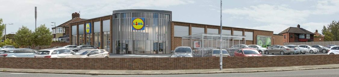 3D visual of proposed Lidl store