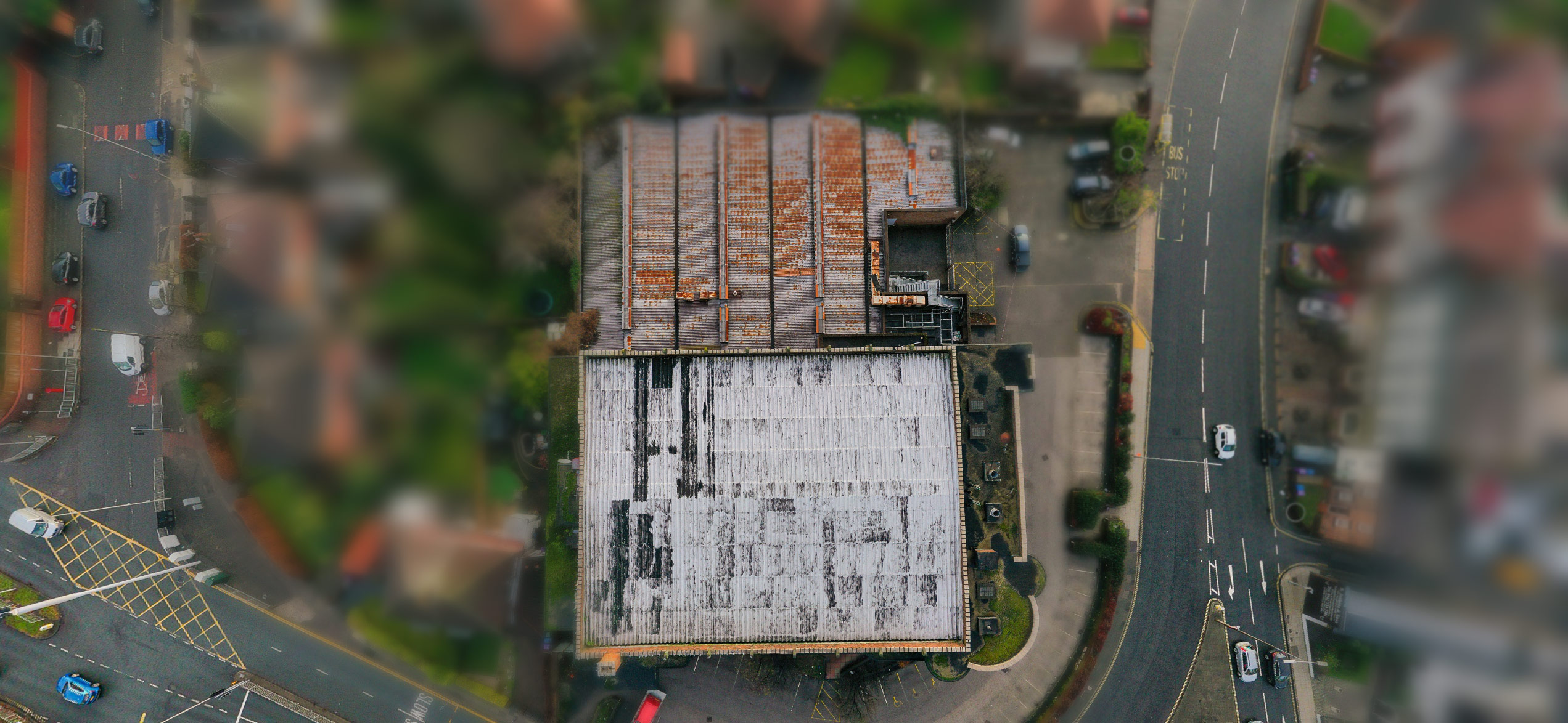 The former Abbey Cinema from above